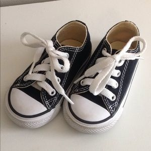 Black Infant Converse